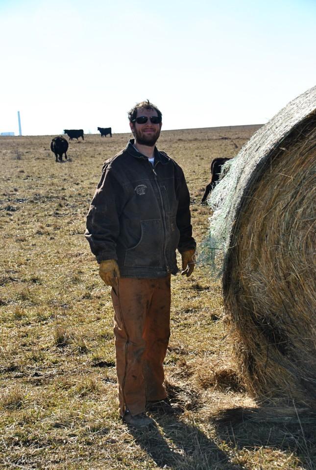 Ryan feeding hay